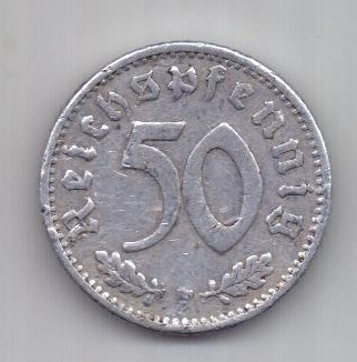 50 пфеннигов 1940 г. F. Германия