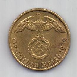 5 пфеннигов 1939 г. AUNC