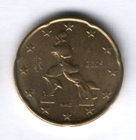 20 евроцентов 2009 г. Италия
