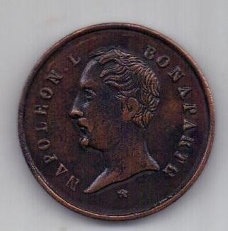 медаль 1852 г. Наполеон Л. Бонапарт .Франция