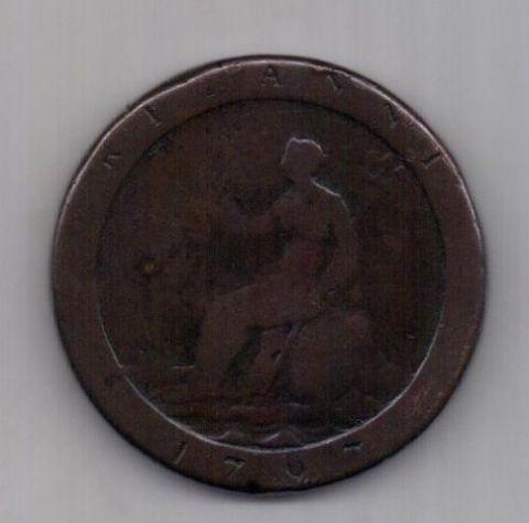 1 пенни 1797 г. Великобритания