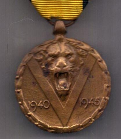 медаль 1940-1945 г. AUNC Бельгия