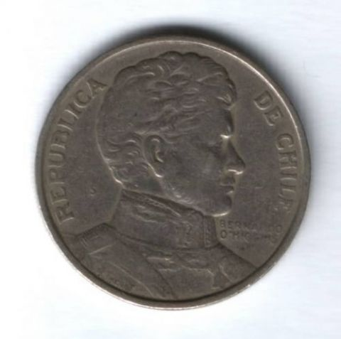 1 песо 1975 г. Чили