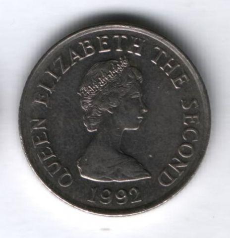 10 пенсов 1992 г. Джерси