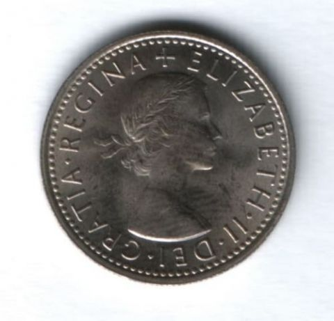 6 пенсов 1967 г. Великобритания AUNC