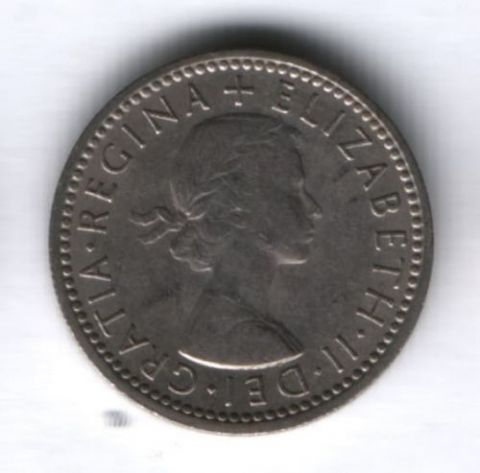 6 пенсов 1961 г. Великобритания