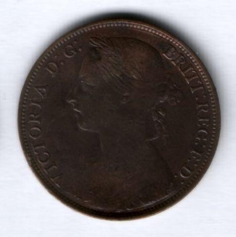 1 пенни 1884 г. Великобритания XF-