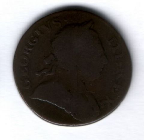 1/2 пенни 1772 г. Великобритания