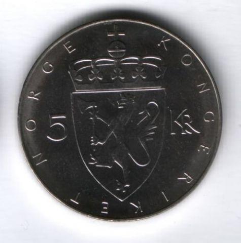 5 крон 1975 г. Норвегия UNC, 100 лет норвежской кроне