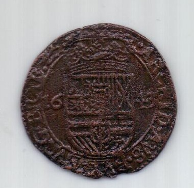 1 лиард 1643. Брабант. Испанские Нидерланды