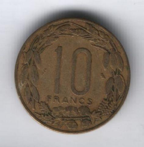 10 франков 1965 г. Камерун