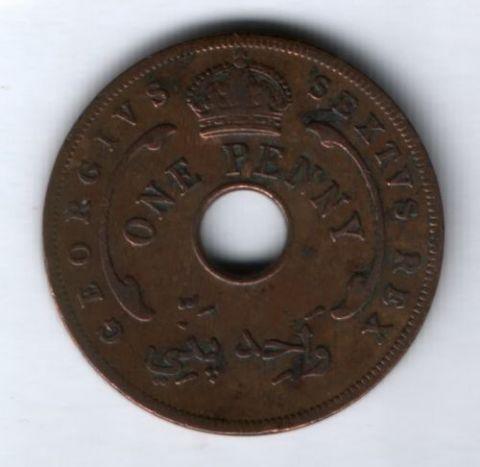 1 цент 1952 г. Западная Африка