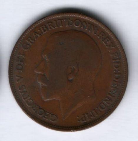1 пенни 1919 г. Великобритания