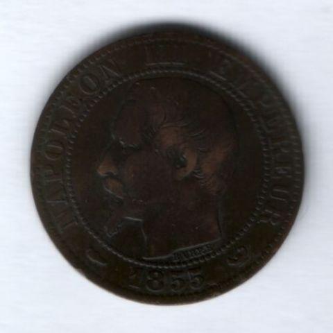 5 сантимов 1855 г.  W Франция
