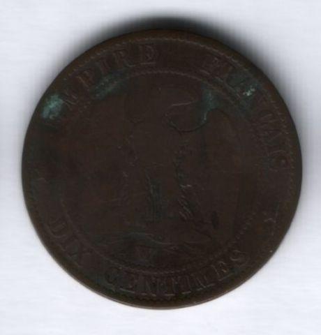 10 сантимов 1853 г. W Франция