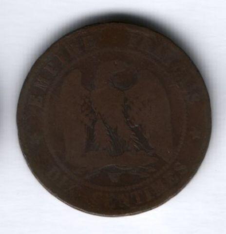 10 сантимов 1856 г. W Франция