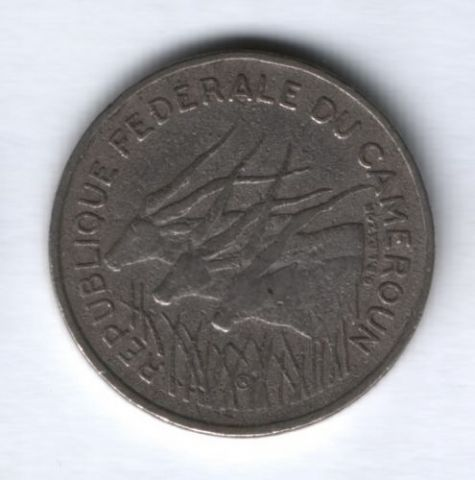 100 франков 1971 г. Камерун