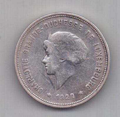 5 франков 1929 г. Люксембург